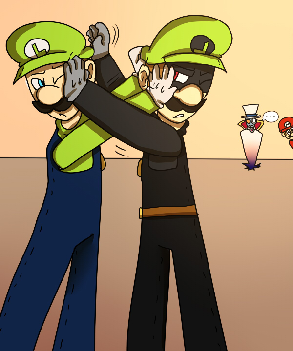Luigi and Mr.L (Request Kirby1213) by mariogamesandenemies