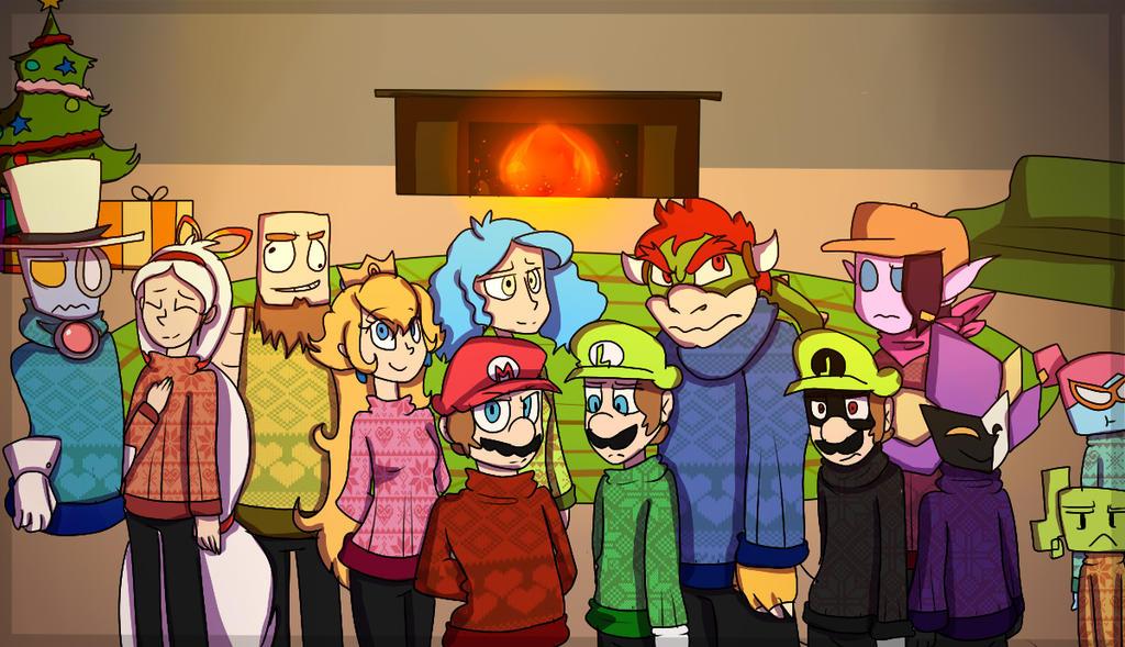 Super Paper Mario Christmas by mariogamesandenemies