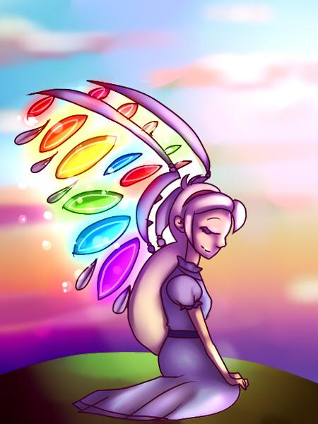 Rainbow Angel by mariogamesandenemies