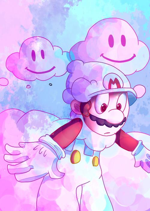 Cloud Mario by mariogamesandenemies