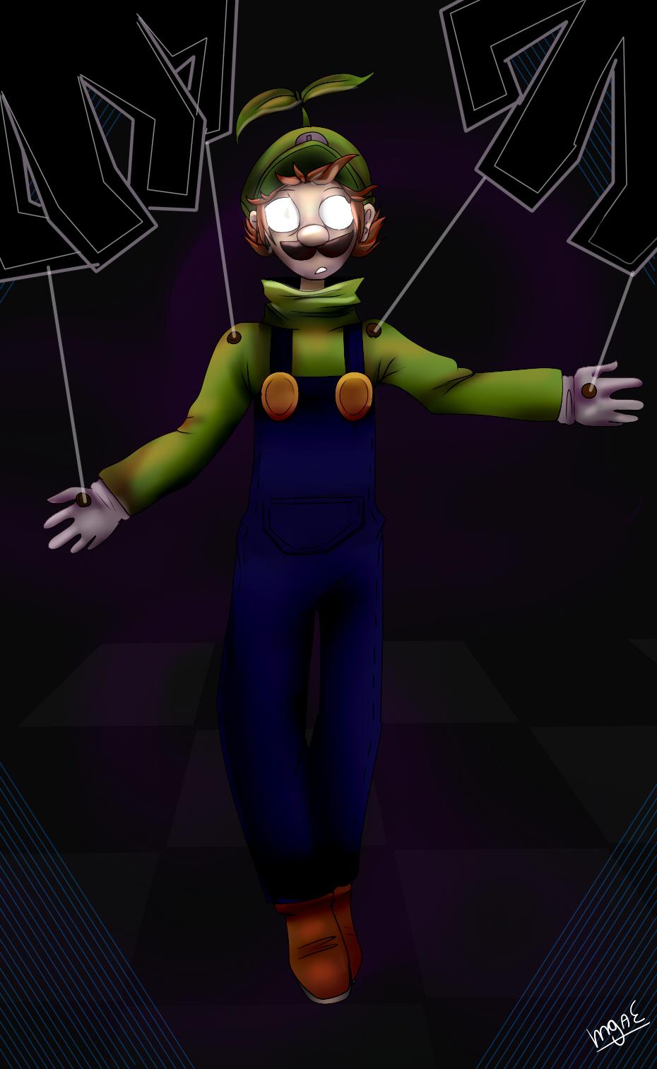 Luigi Marionette by mariogamesandenemies