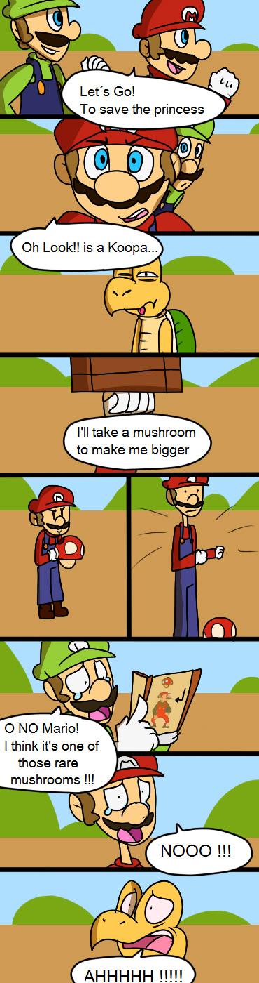 SMB Wtf Comic 1 Weird Mushroom by mariogamesandenemies