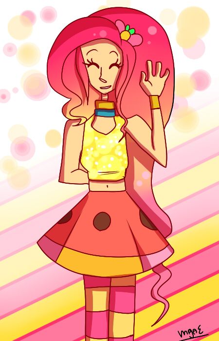 Fluttershy and Pinkie Fusion by mariogamesandenemies