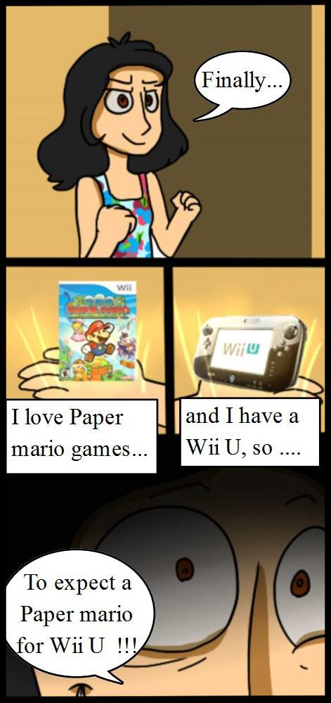 Comic of Paper Mario Wii U... by mariogamesandenemies