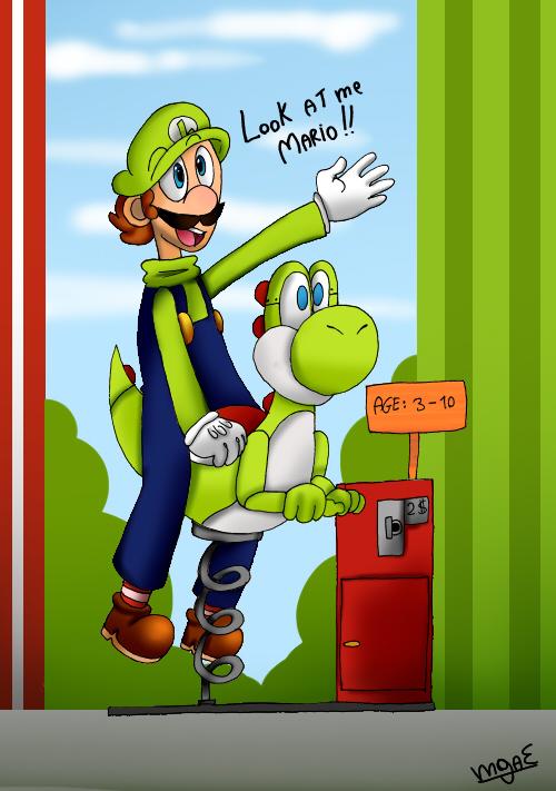 Luigi Playing by mariogamesandenemies