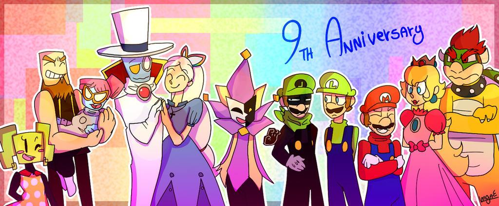 Super Paper Mario 9th Anniversary by mariogamesandenemies