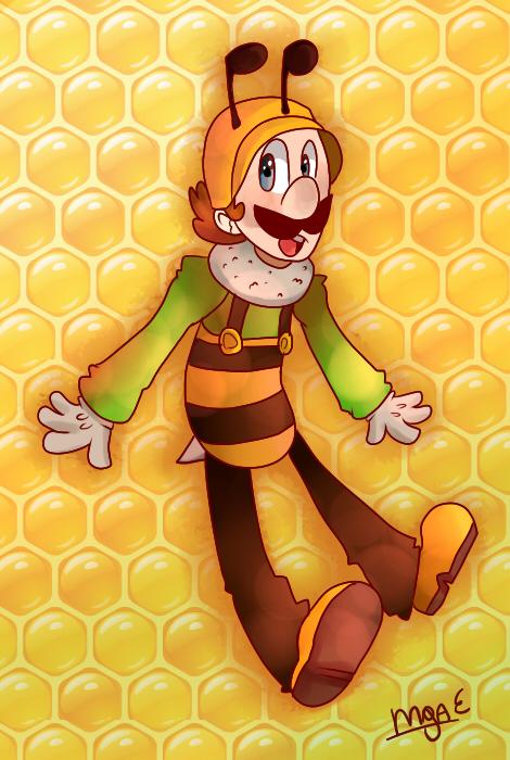 Luigi Abeja by mariogamesandenemies
