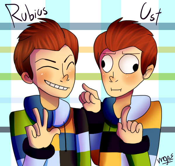 Rubius and Ust by mariogamesandenemies