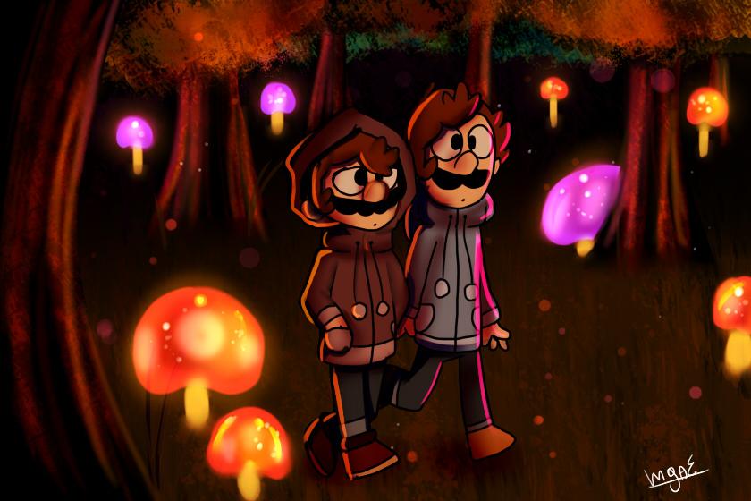 Mario and Luigi by mariogamesandenemies