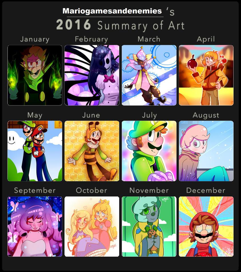 2016 Summary of Art by mariogamesandenemies