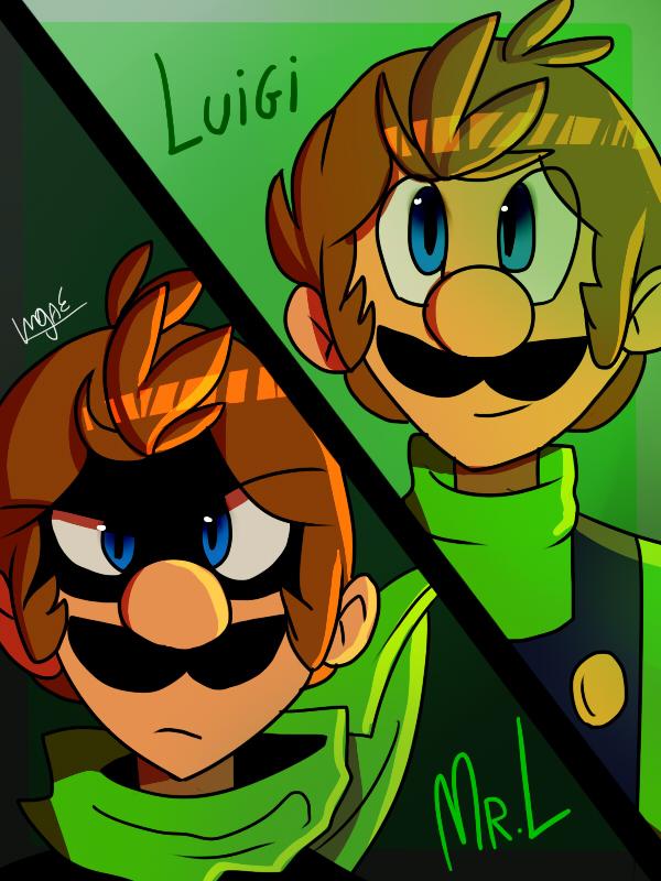 Luigi y El Luigi Malo by mariogamesandenemies