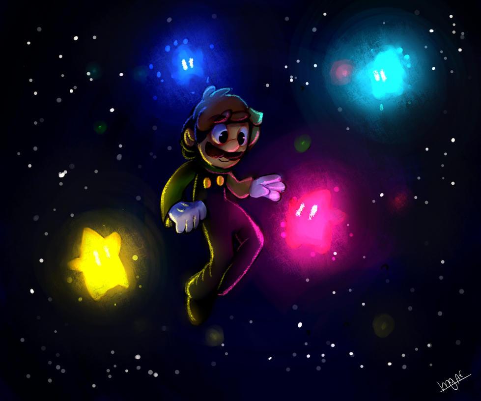 Luigi Galaxy by mariogamesandenemies