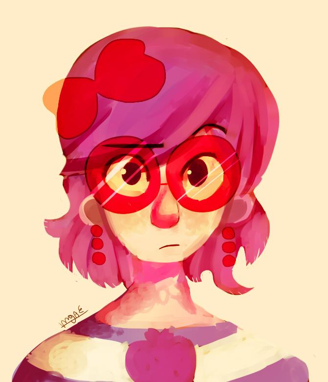 Pink Nerd by mariogamesandenemies