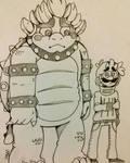 Bowser y Luigi