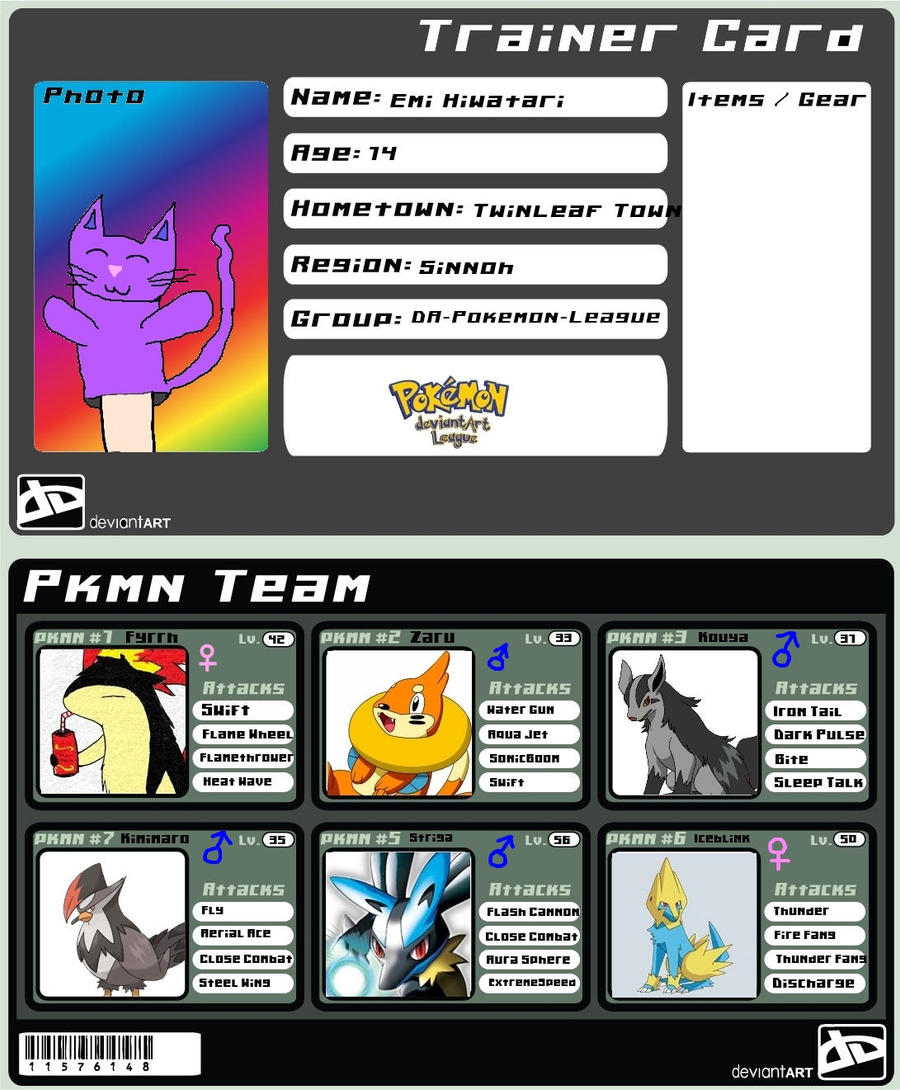 Pokemon Trainer Card 8D by SoulEaterScourge on DeviantArt