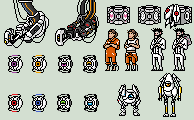 Tiny Portal Pixels by GasMaskMonster