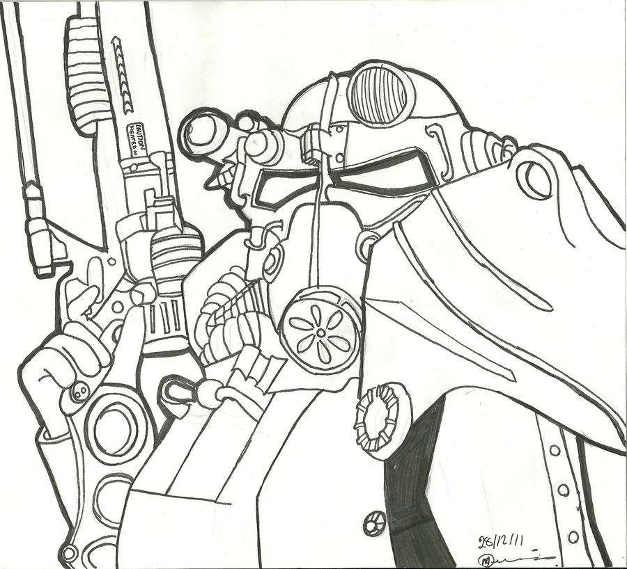 Fallout New Vegas Coloring Pages