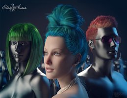 Complete Iray Hair Shaders