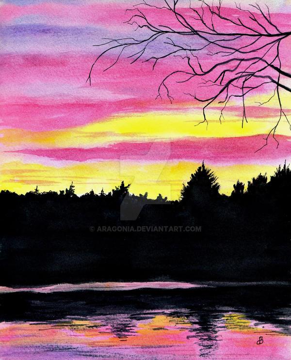 November Sunset by aragonia