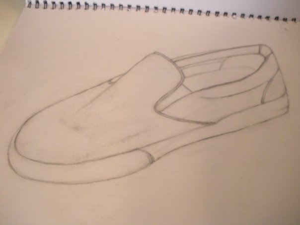 Drawing of Vans Shoes Vans Shoe Drawing by