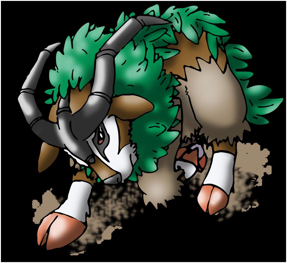 Gogoat Pokemon Fan art - pokemon - gogoat by