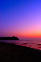 sunset on beach by sealove0699