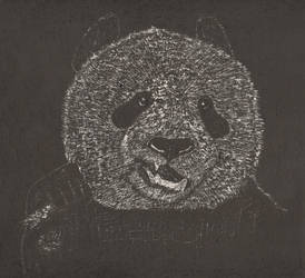 Panda Scratch Art by cptclarke2772