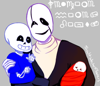Gaster and the baby bones by SaltWaterFlowers
