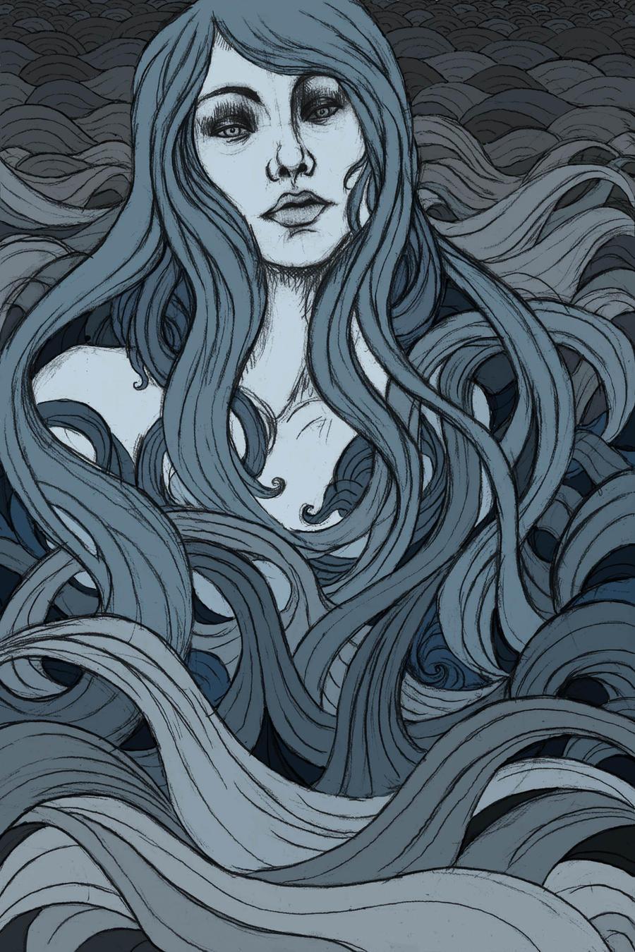 Ocean of Hair by Evanira