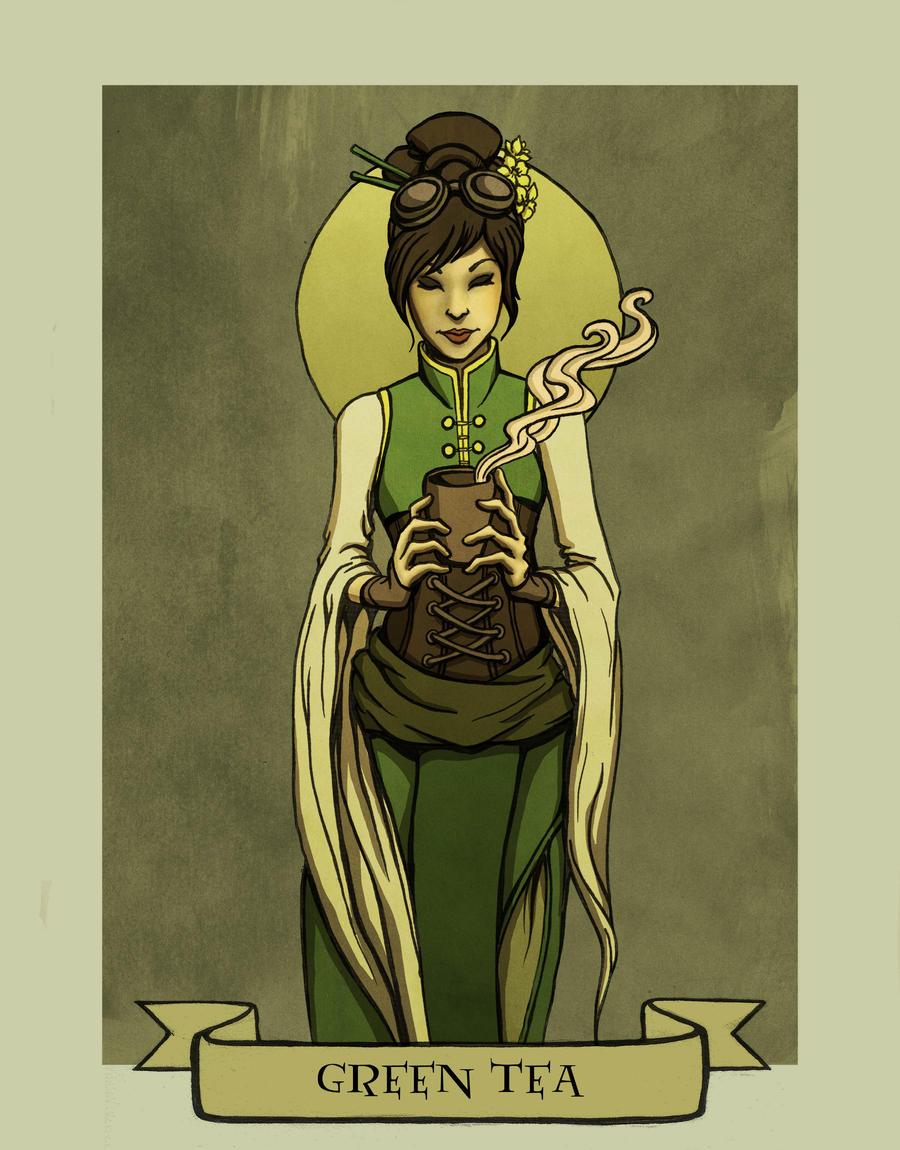 Green tea by Evanira