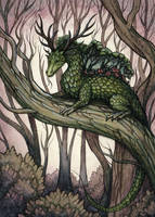 Forest Dragon by Evanira