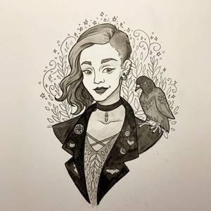 Inktober Urban Witch by MadalynMcLeod