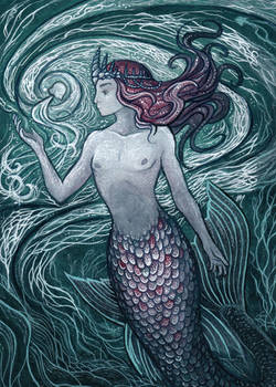 Merman with Jellyfish