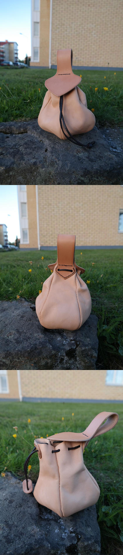 Drawstring pouch with lid version 2 by Durnstaros