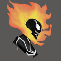 Ghost Rider Into The Venomverse PopHeadShot by KZDoesDesigns