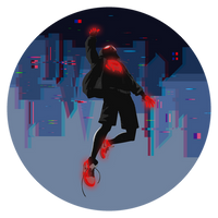 Miles Morales_Glitch City by KZDoesDesigns