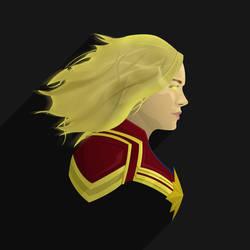 Captain Marvel PopHeadShot by KZDoesDesigns