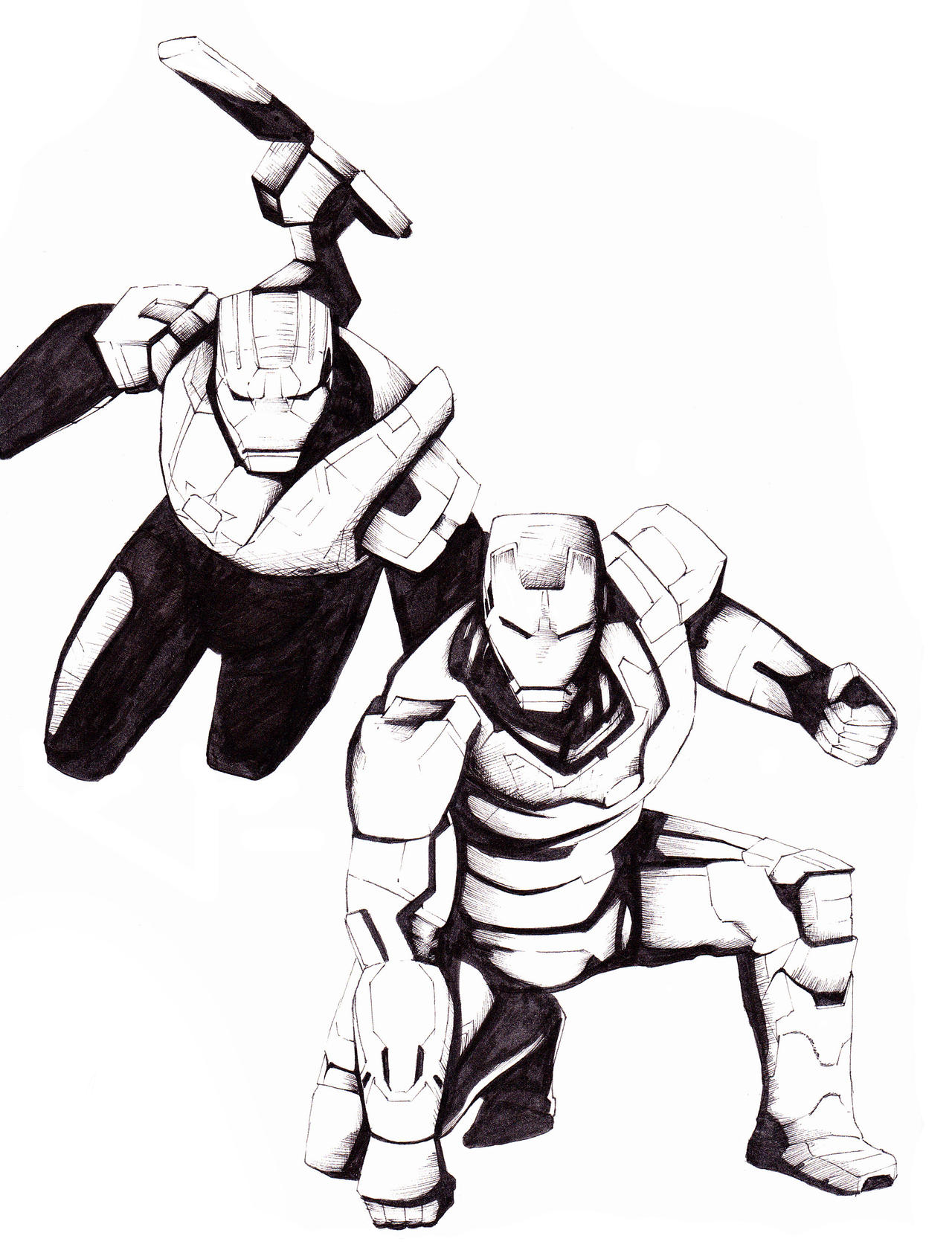 iron man iron patriot drawing images galleries with a bite