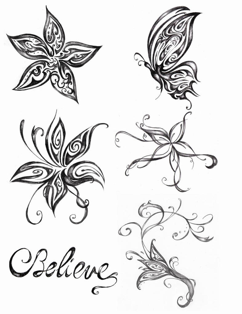 Flowers and butterfly tattoo design by valerie deguise on deviantart flowers and butterfly tattoo design by valerie deguise izmirmasajfo