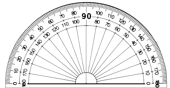 Protractor on gear template clip art