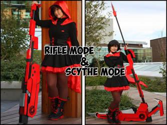 Crescent Rose Scythe: Rifle vs Scythe (Foldable) by GB-Faldrez