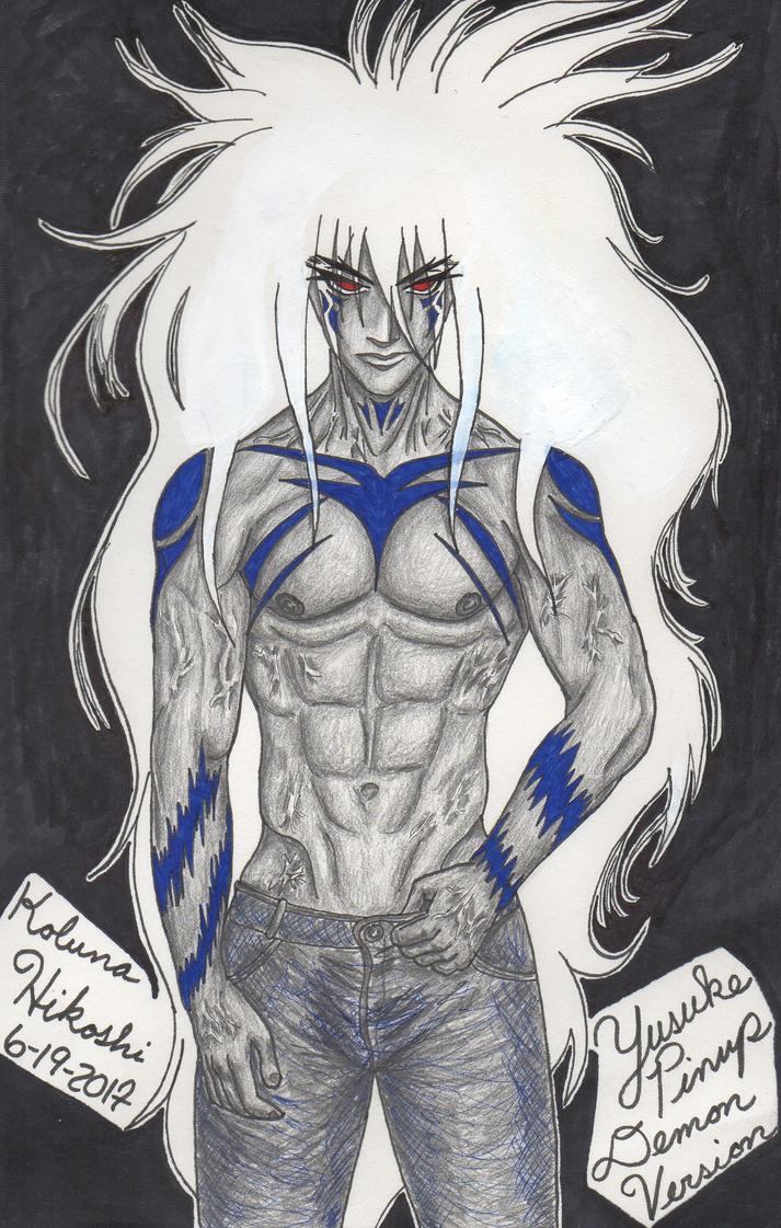 Yusuke Pinup (Demon Version) by Koluna-Hikoshi