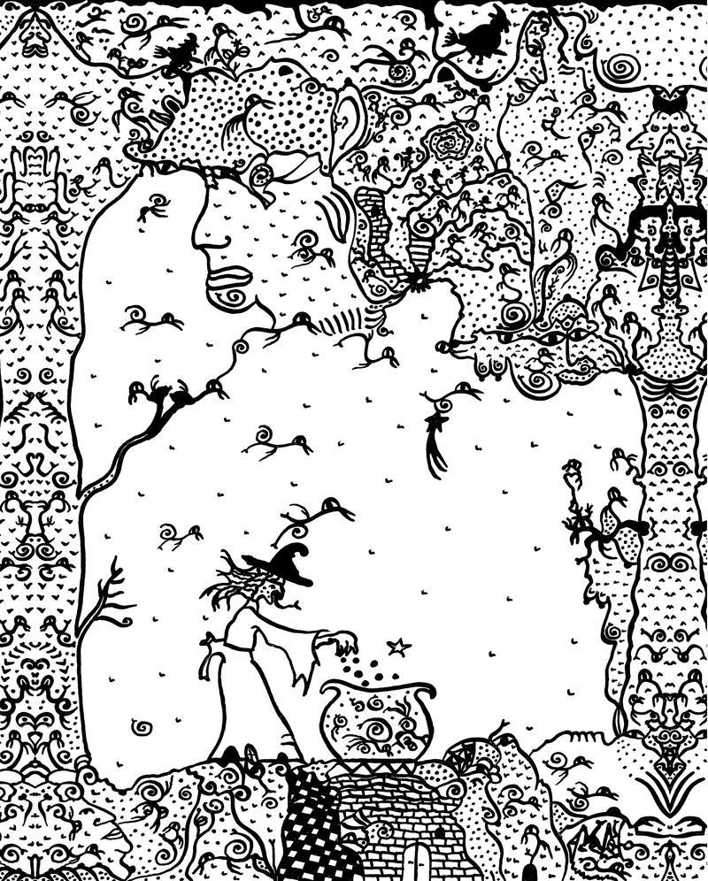 Sabbat d'encre - Ink sabbath by marbrure