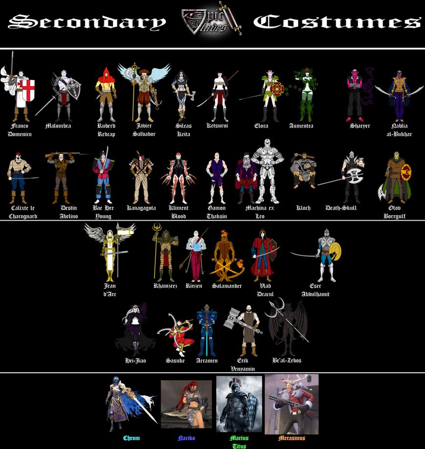 Epic Blades II secondary costumes by sprite-genius