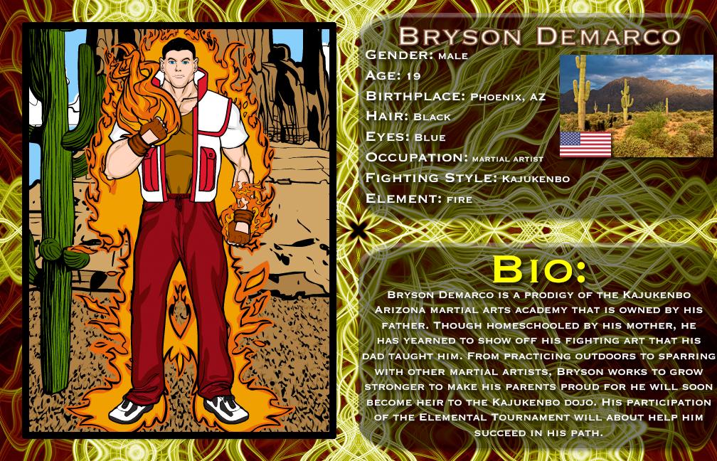 Elemental Blitz: Bryson Demarco by genius-spirit on DeviantArt