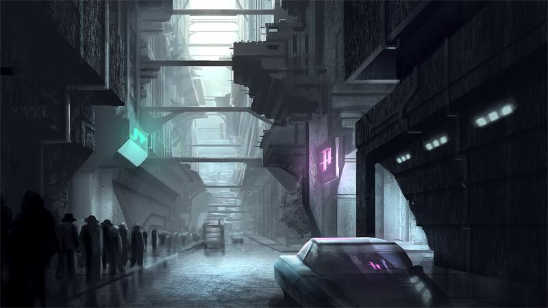 sci-fi city by duq