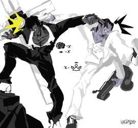 monochrome battle by weirdo39