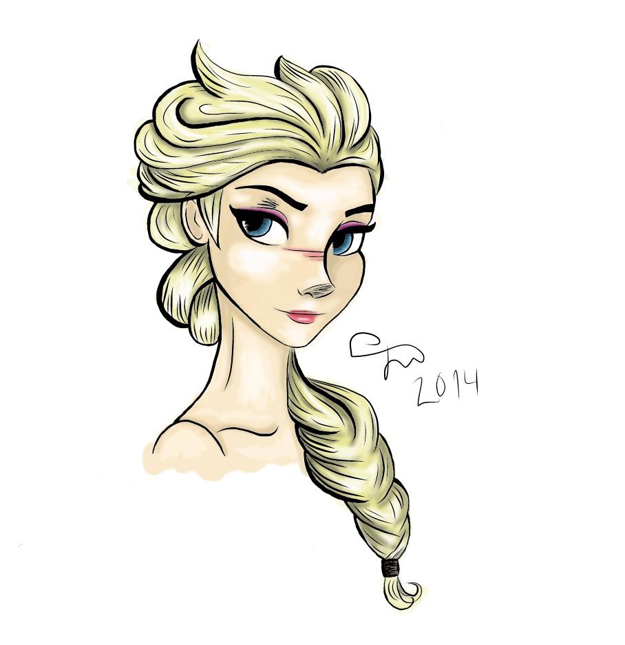 Frozen: Elsa (colored) by Kardischian