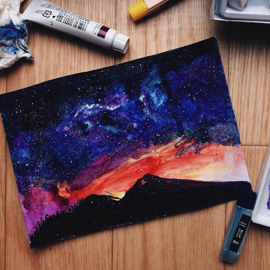 . Starry Night Sky . by Kan-Ryukai