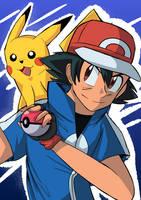 Ash And Pikachu Pokemon by OcramFlashSD